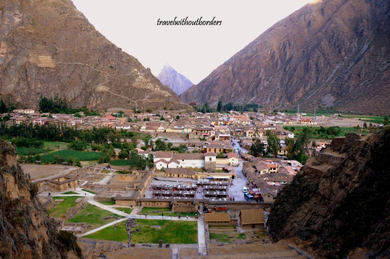 Ollantaytambo from top