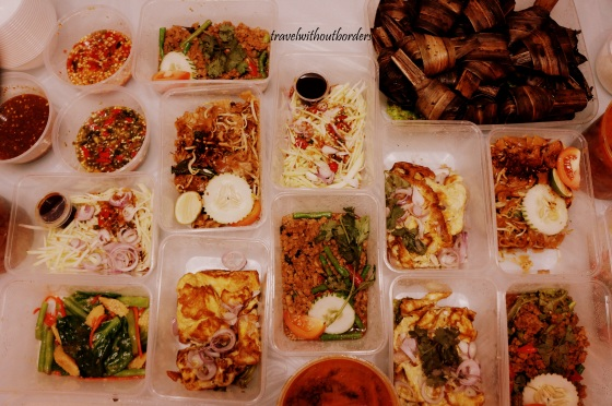 Variety of Thai's foods.