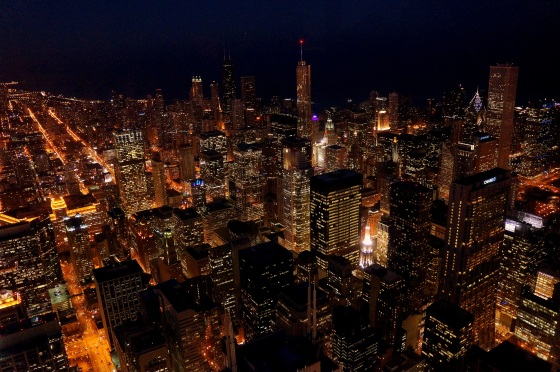 Night View From Willis Tower
