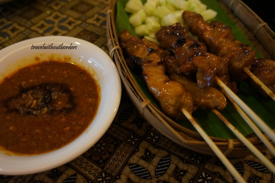 12.37pm Satay in Peanut Sauce