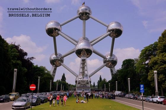 The bizarre Atomium, Belgium!