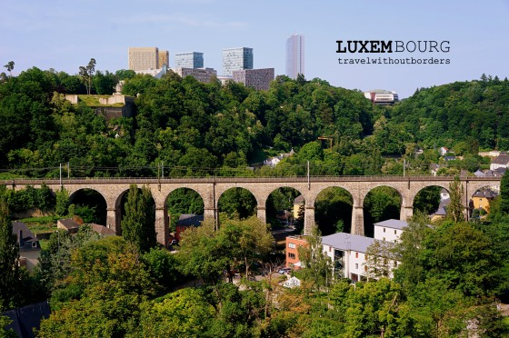 The old and modern Luxembourg!