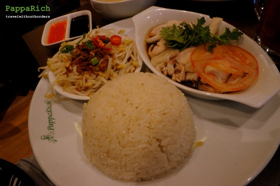 Chicken Rice with Steamed Chicken