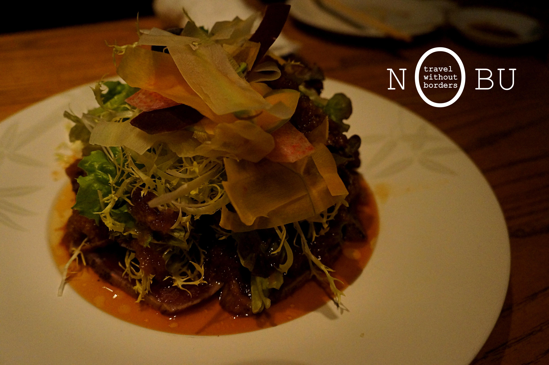 Gourmet series nobu intercontinental hong kong hong for Sashimi dressing