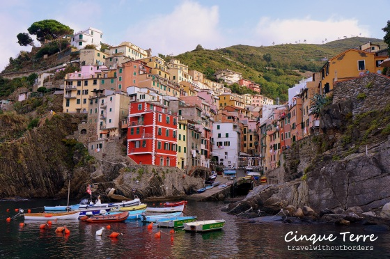 Front view of Riomaggiore