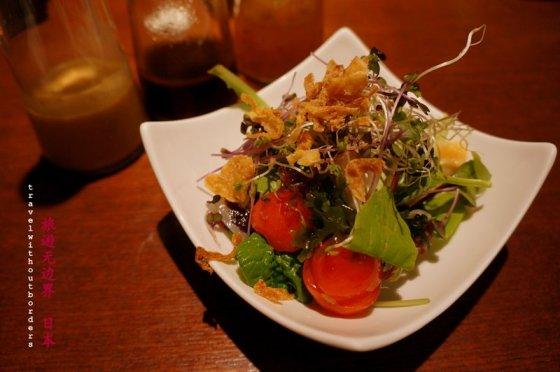 5 types of sashimi with salad