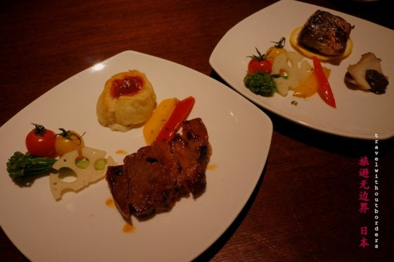 Grilled pork + Japanese barracuda