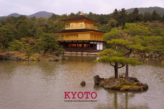 The Golden Pavilion (Kinkakuji)!