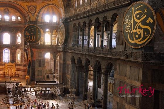 Inside Hagia Sophia!