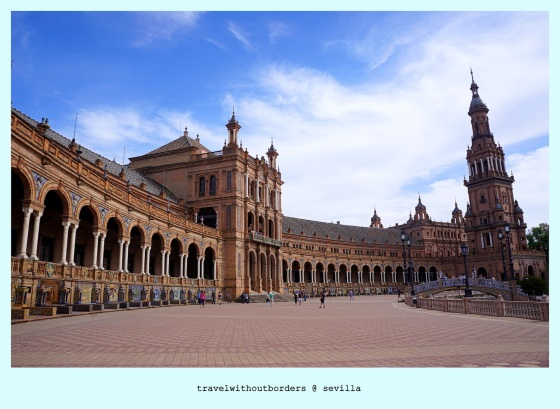 Postcard 0021: Good Day at Plaza de España! – Sevilla, Spain!