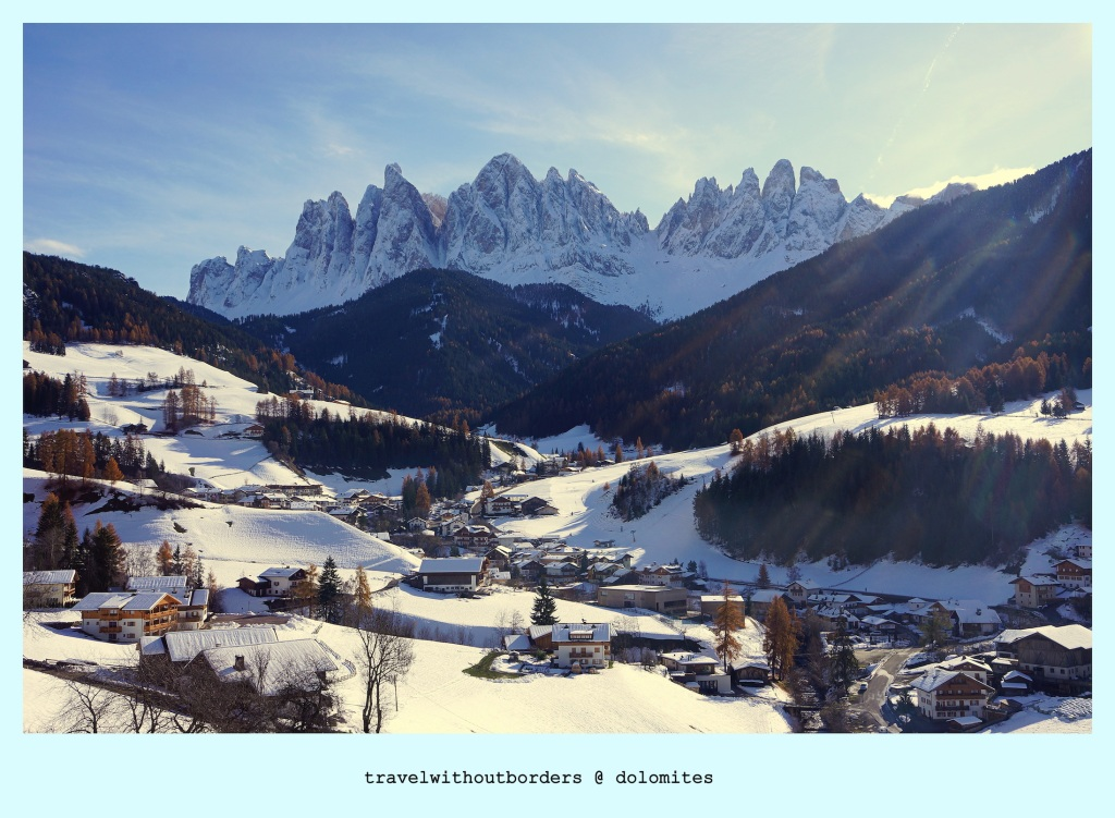 Postcard 0038: Always A Charm! – Dolomites,Italy!